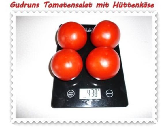 Salat: Tomatensalat mit Hüttenkäse - Rezept - Bild Nr. 3
