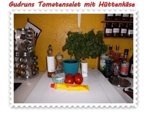 Salat: Tomatensalat mit Hüttenkäse - Rezept - Bild Nr. 2