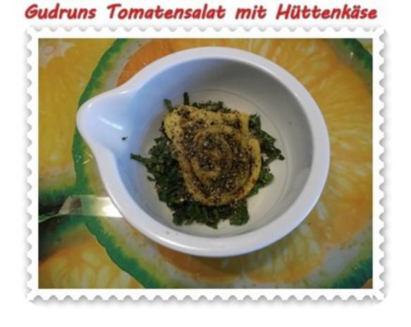 Salat: Tomatensalat mit Hüttenkäse - Rezept - Bild Nr. 7