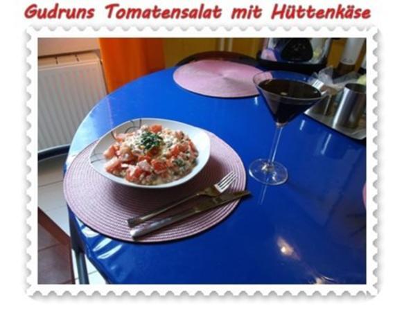 Salat: Tomatensalat mit Hüttenkäse - Rezept - Bild Nr. 12