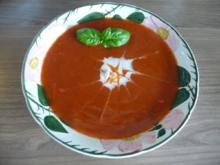 Vegan : Vorsuppe - Tomatensuppe - Rezept