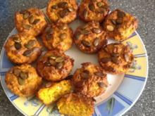 Kürbis - Feta - Muffins - Rezept