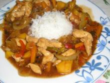 Hühnerfleisch süß-sauer nach Christl`s Art - Rezept