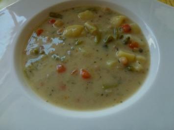 Gartensuppe mit grünen Bohnen - Rezept