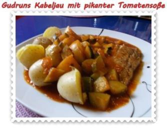 Fisch: Kabeljau mit pikanter Tomatensoße - Rezept