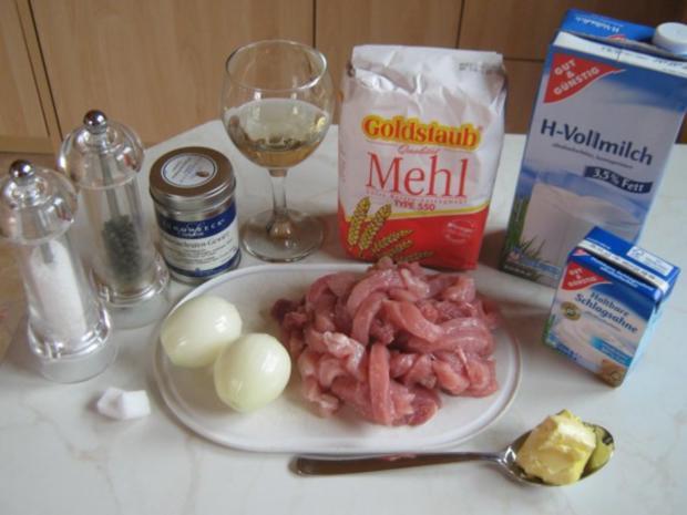 Schweinegeschnetzeltes in Zwiebel-Sahne-Sauce - Rezept - Bild Nr. 3