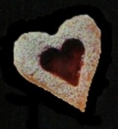 Rezept: Nuss-Herzen mit Himbeerkonfitüre