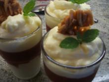 Dessert: Sahnepudding mit Zwetschgengrütze - Rezept
