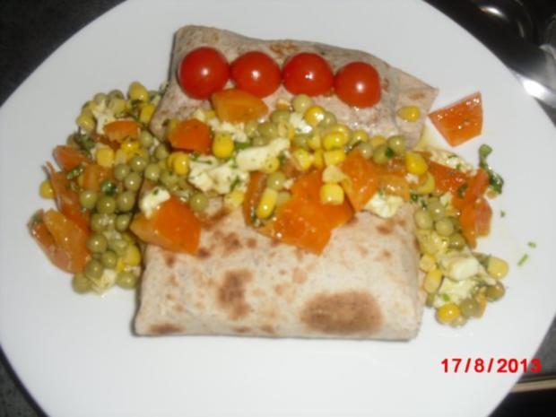 Wrap aus Vollkorn mit Gemüse-Füllung - Rezept