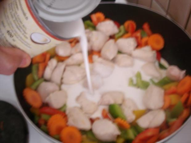 Hähnchenbrustfilet-Curry mit buntem Reis - Rezept - Bild Nr. 11