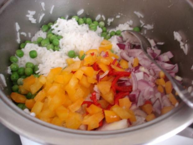 Hähnchenbrustfilet-Curry mit buntem Reis - Rezept - Bild Nr. 17