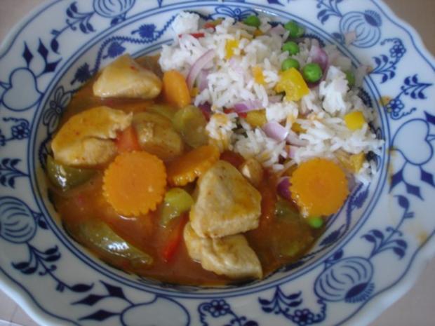 Hähnchenbrustfilet-Curry mit buntem Reis - Rezept - Bild Nr. 19