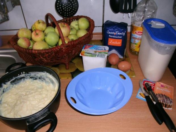 Apfelkuchen mit Pudding und Streusel - Rezept - Bild Nr. 3