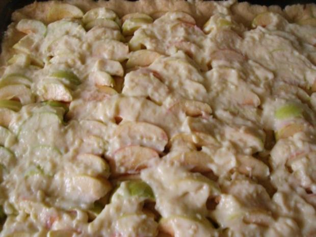 Apfelkuchen mit Pudding und Streusel - Rezept - Bild Nr. 10