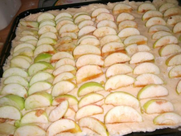 Apfelkuchen mit Pudding und Streusel - Rezept - Bild Nr. 9