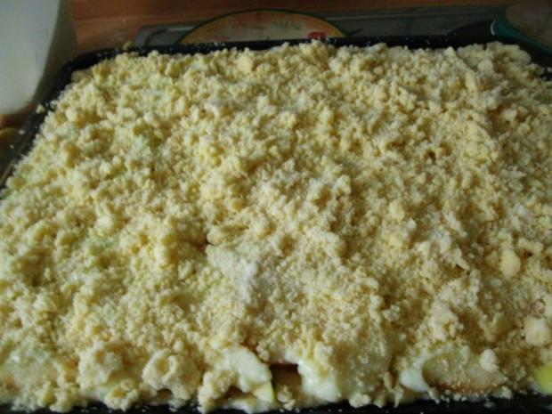 Apfelkuchen mit Pudding und Streusel - Rezept - Bild Nr. 12