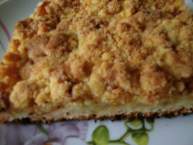 Apfelkuchen mit Pudding und Streusel - Rezept - Bild Nr. 15
