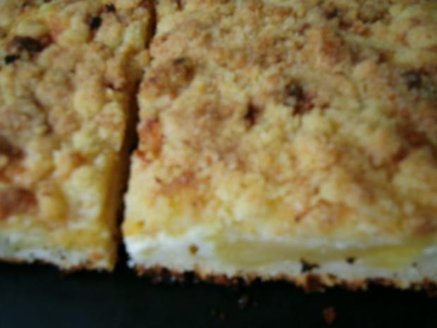 Apfelkuchen mit Pudding und Streusel - Rezept - Bild Nr. 2