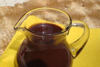 Rezept: Pralinen-Schokosauce, für Desserts und Eis