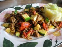 Hackfleisch : Schnelle Hack - Gemüse - Pfanne - Rezept