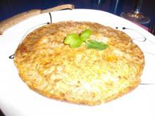 Eier: Harissa-Rührei mit Speck und Käse - Rezept