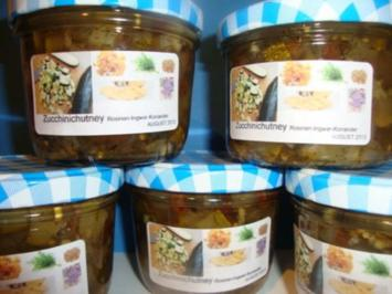 Rezept: Zucchinichutney mit Rosinen-Ingwer-Kardamom