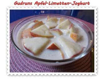 Nachtisch: Apfel-Limetten-Joghurt - Rezept