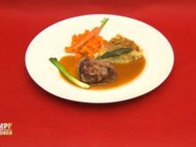 Kalbsfilet à la Rossini mit Kartoffel-Salbei-Tarte - Rezept