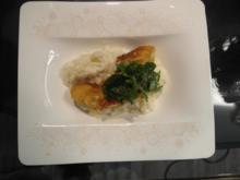 Spargelrisotto mit Spargel Cordon-Bleu und Kräutersalat - Rezept