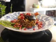 """Portwein-Balsamico-Belugalinsen-Salat mit gebratener Blutwurst und """"Moscow Mule"""" - Rezept"""