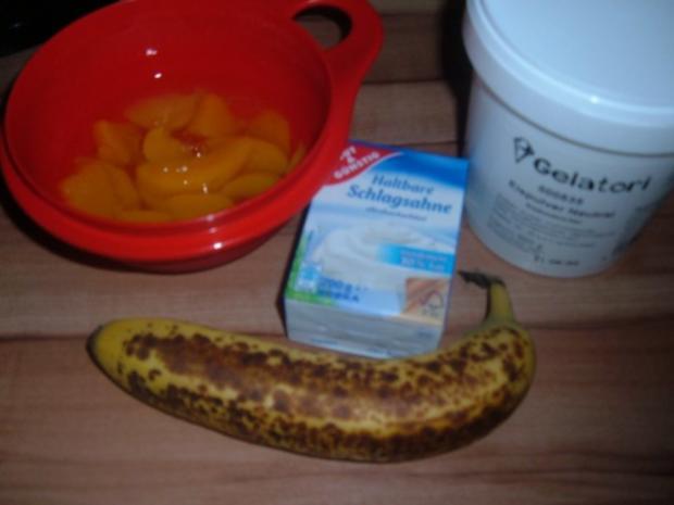 Eis :  Banane - Pfirsich - Rezept - Bild Nr. 3
