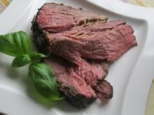 Ein rosa gebratenes Stück Rindfleisch - Rezept
