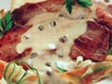 Schnitzel auf Kapernsoße gebettet - Rezept