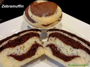 Muffin:   ZEBRAMUFFIN -aus Biskuitteig- - Rezept