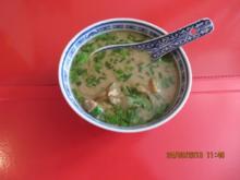Suppe: Asiatische Kokossuppe mit Hähnchen - Rezept