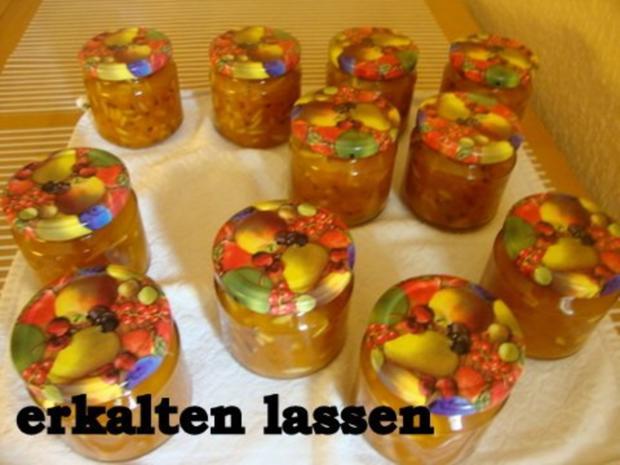 Aprikosen-Birnen Konfitüre mit Haselnusskrokant - Rezept - Bild Nr. 13