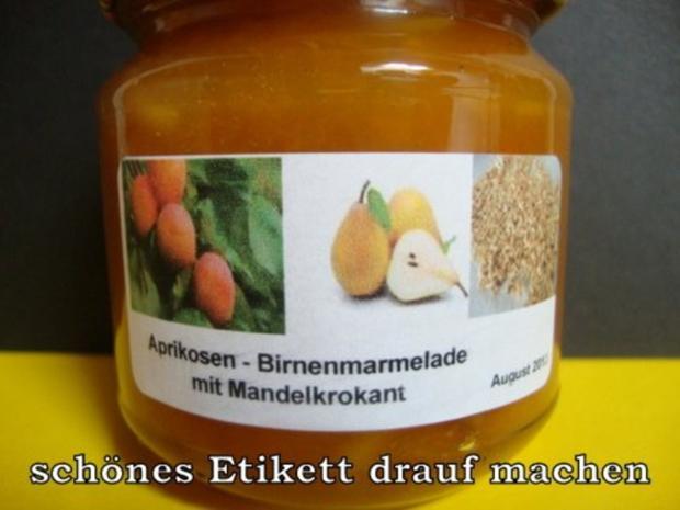Aprikosen-Birnen Konfitüre mit Haselnusskrokant - Rezept - Bild Nr. 14