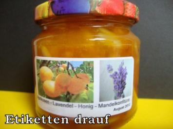 Aprikosen Konfitüre mit Mandeln-Lavendel und Honig - Rezept