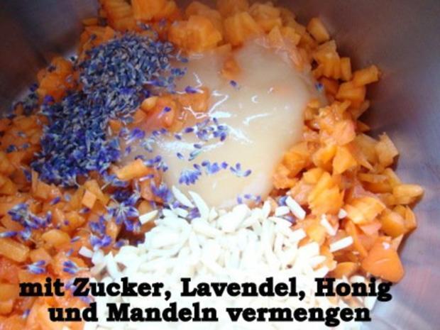 Aprikosen Konfitüre mit Mandeln-Lavendel und Honig - Rezept - Bild Nr. 6