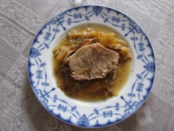 Fleisch: Schweinerücken im Römertopf - Rezept