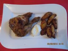 Kochen: Knuspriges Maishähnchen mit Wedges - Rezept