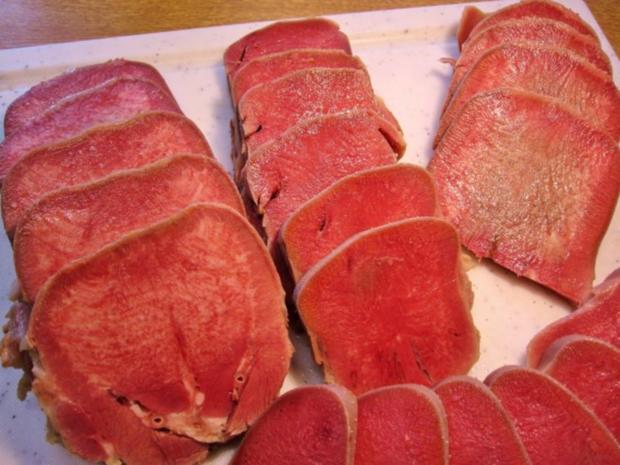 Gepökelte Rinderzunge mit Meerrettichsoße ... - Rezept - Bild Nr. 6