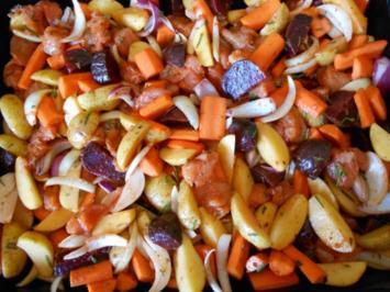 Rezept: Ofengemüse mit Putenbrust
