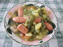 Suppen & Eintöpfe :  Grüne Bohnen mit Rauchspeck - Rezept