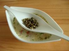 Heiße Brühe mit geröstetem Mediteranem Gemüse - Rezept