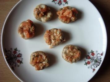 Champignons gefüllt 4 - Rezept