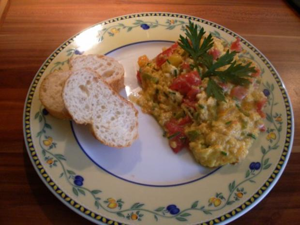 Gemüserühreier - Rezept