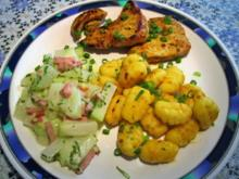 Kohlrabi-Gemüse mit Schinkensoße - Rezept