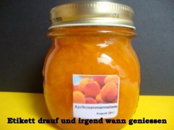 Aprikosenkonfitüre mit Honig - Rezept