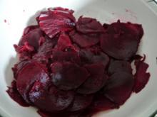 Rote Bete Carpaccio mit Feta-käsewürfel - Rezept
